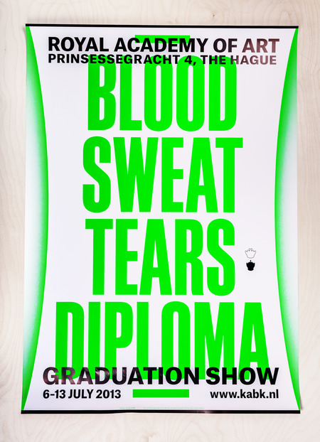 Blood sweat tears diploma   poster a0 catalogue